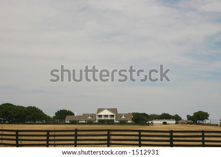 Wide of Southfork Ranch - stock photo