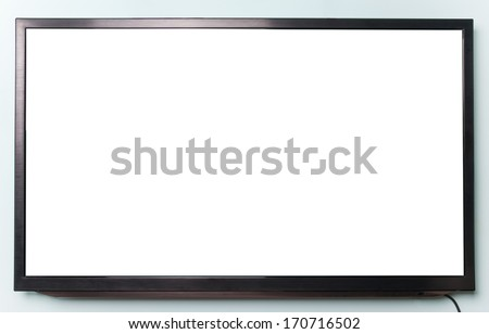 wide screen TV - stock photo