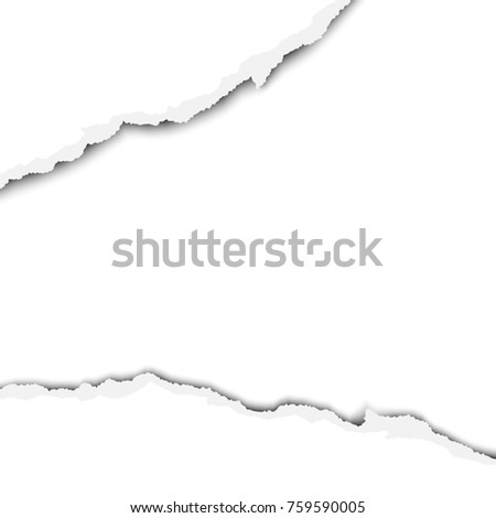 Wide Torn Snatched Hole Sheet White Stock Illustration