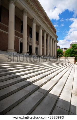 Widener Library, Harvard University - stock photo