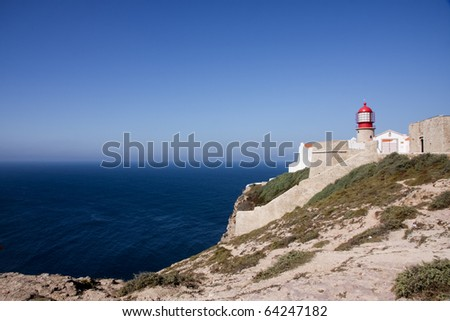 Wider Angle; Lighthouse at Cape St. Vincent, Portugal