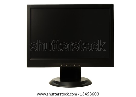 widescreen LCD monitor on white background