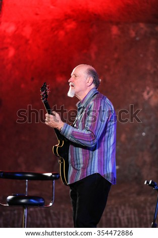 WIELICZKA, POLAND - NOVEMBER 2, 2015: John Scofield playing live music at The Cracow Jazz All Souls Day Festival in The Wieliczka Salt Mine. Poland