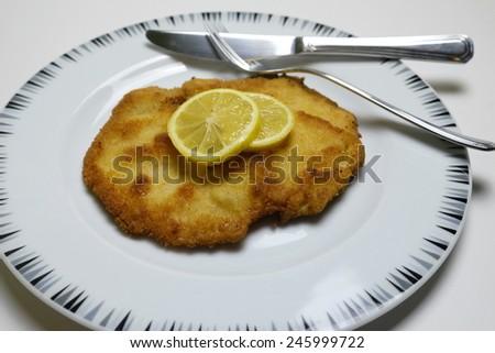 Wiener Schnitzel 2 - stock photo