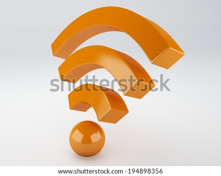 wifi icon. 3d illustration - stock photo