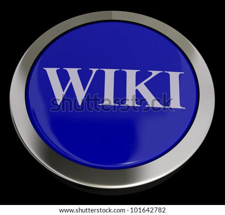 Wiki Button For Online Information Or Encyclopedias - stock photo