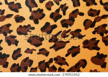 Wild African animal hide pattern yellow leopard