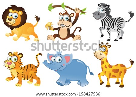 Wild Animals Collection 1(RASTER) - stock photo