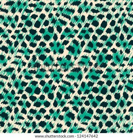Wild cat fur texture. Seamless pattern. - stock photo