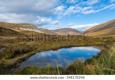 Wild landscape, Isle of Hoy, Orkney, Scotland - stock photo