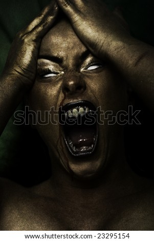 wild mad creature beast - stock photo