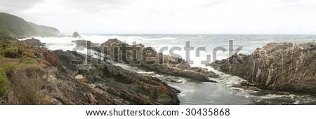 wild waves - stock photo