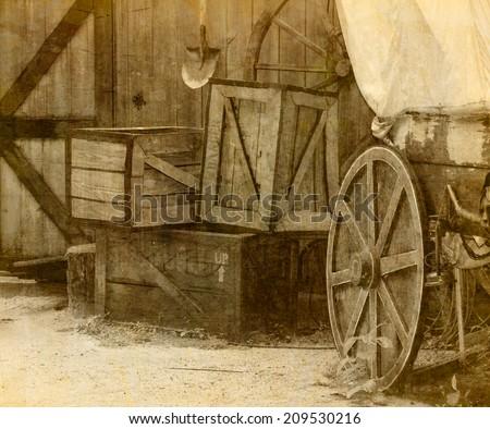 Wild west Cowboy town - stock photo