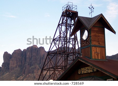 Wild West Ghost Town - stock photo