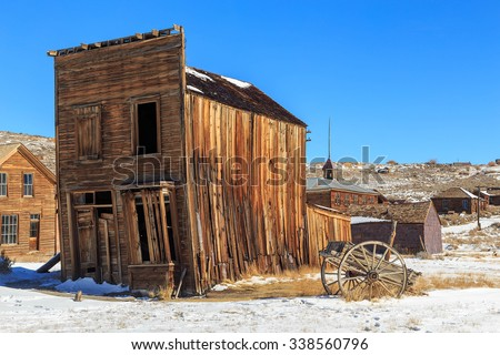 Wild west ghost town in Bodie, California, USA. - stock photo