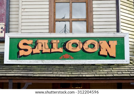 Wild West Saloon Sign - stock photo