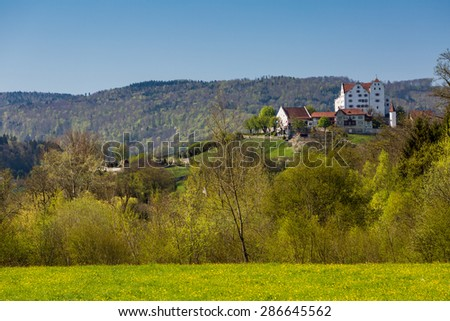 WILDEGG, SWITZERLAND - MARCH 19: View to the Castle Wildegg (House of Habsburg) in the canton of Aargau on March 19, 2015. The House of Habsburg was one of the most important royal houses of Europe.