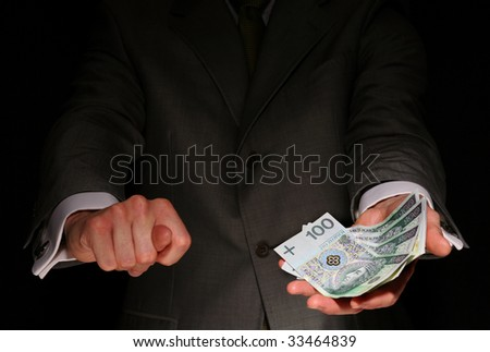 Will be moneyless - stock photo