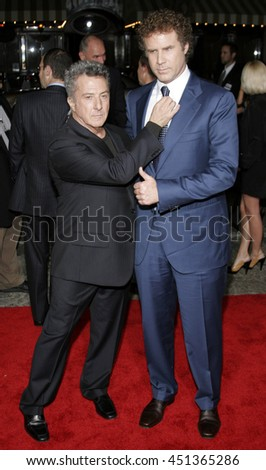Will Ferrell and Dustin Hoffman at the Los Angeles premiere of 'Stranger Than Fiction' held at the Mann Village Theatre in Westwood, USA on October 30, 2006.  - stock photo
