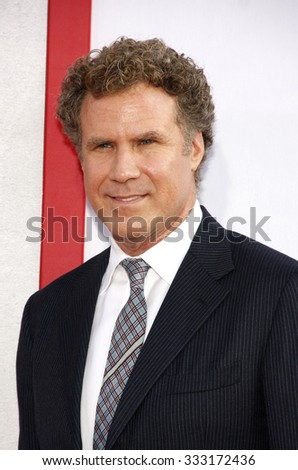 Will Ferrell at the Los Angeles premiere of 'The Campaign' held at the Grauman's Chinese Theatre in Hollywood, USA on August 2, 2012. - stock photo