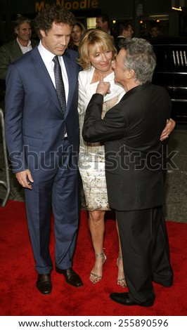 "Will Ferrell, Emma Thompson and Dustin Hoffman attend the Los Angeles Premiere of ""Stranger Than Fiction"" held at the Mann Village Theatre in Westwood, California, on October 30, 2006.  - stock photo"