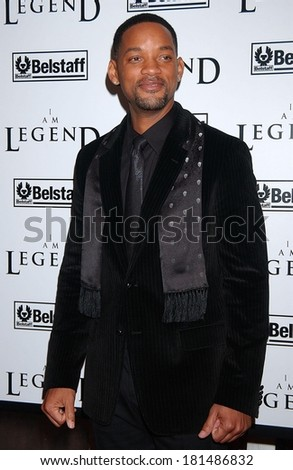 Will Smith at Premiere of I AM LEGEND, WAMU Theatre at Madison Square Garden, New York, NY, December 11, 2007 - stock photo