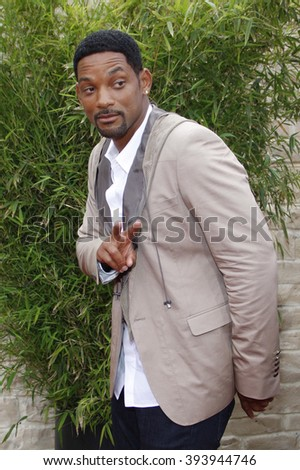 """Will Smith at the Los Angeles Premiere of """"The Karate Kid"""" held at the Mann Village Theater in Westwood, California, United States on June 7, 2010.  - stock photo"""