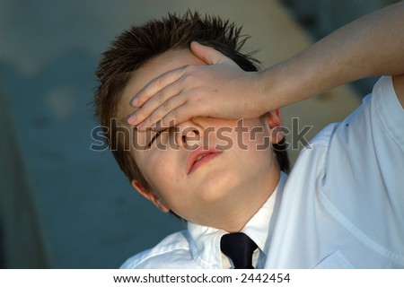 Will this homework ever end? - stock photo