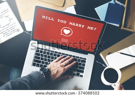 Will You Marry Me? Valentine Romance Heart Love Passion Concept - stock photo