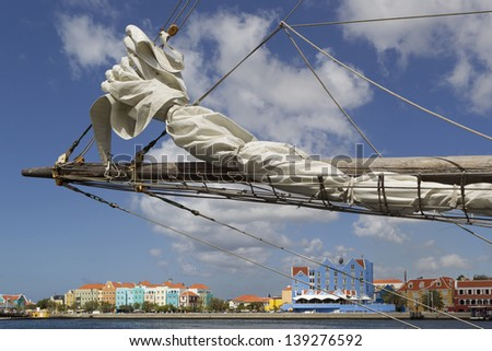 willemstad-curacao - stock photo