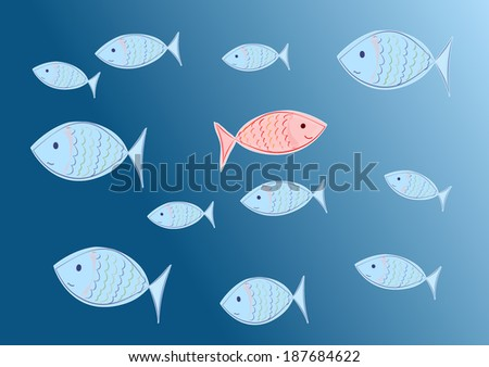 willful fish - stock photo