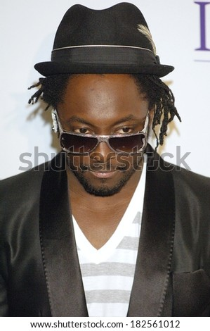 william of Black Eyed Peas at Clive Davis Pre-Grammy Party, Beverly Hilton Hotel, Los Angeles, CA, February 09, 2008 - stock photo