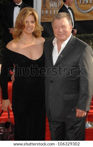 William Shatner and wife Elizabeth at the 15th Annual Screen Actors Guild Awards. Shrine Auditorium, Los Angeles, CA. 01-25-09