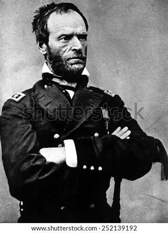 William Tecumseh Sherman, during the Civil War, 1860s. - stock photo