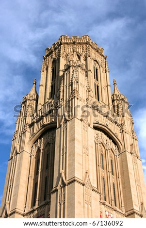 Wills Memorial Building - landmark of the University of Bristol, UK