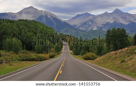 Wilson Peak and the San Juan Mountains, Colorado - stock photo