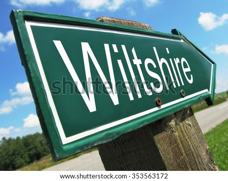 Wiltshire road sign - stock photo