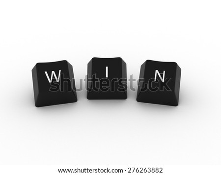 WIN Computer Keys on white background