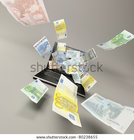 win money with internet concept - stock photo