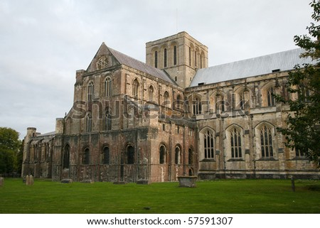 Winchester Cathedral at Winchester in Hampshire is one of the largest cathedrals in England, with the longest nave and overall length of any Gothic cathedral in Europe.[