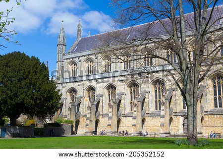 Winchester Cathedral England UK Europe - stock photo