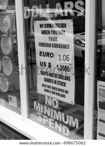 Winchester Hampshire England August   Monochrome United Kingdom Sterling Currency