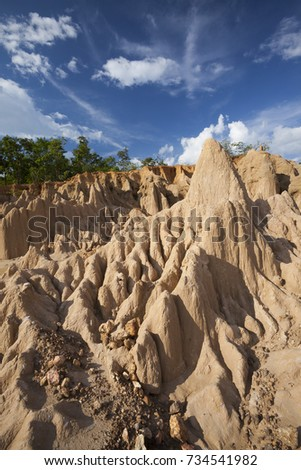 Water and wind erosion stock images royalty free images vectors wind and water erosion cause a strange landscape thailand sciox Images