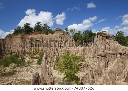 Erosion stock images royalty free images vectors shutterstock wind and water erosion cause a strange landscape thailand sciox Gallery