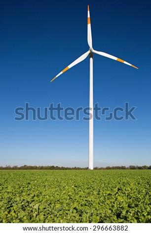 Wind energy turbine - stock photo