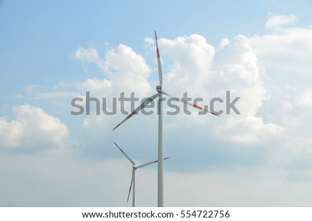 Wind farm and the sky