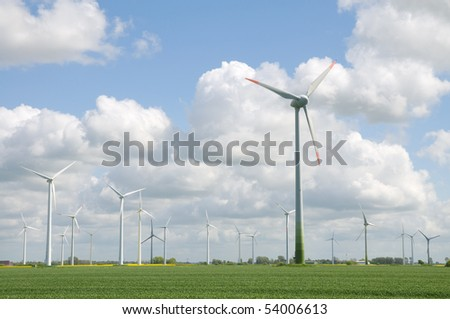 wind farm, German coast