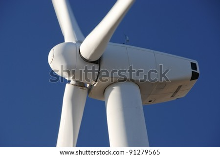 Wind farm in California - stock photo