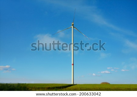 Wind Farm in  Germany - stock photo