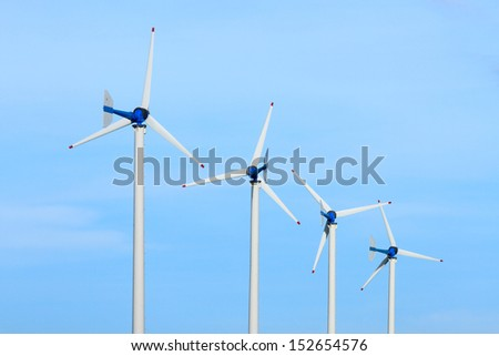 Wind farm in the west of Thailand